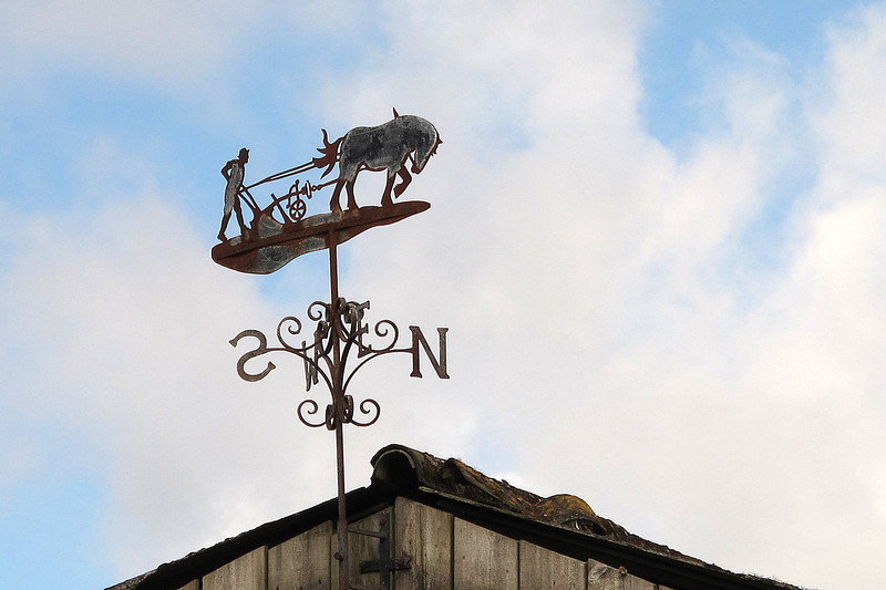 An elaborate weathervane on the path out of Zennor.