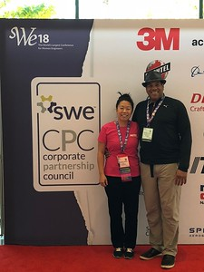 SWE-SD members at WE18:   Liz Wong and husband Anthony at the end of Day 2