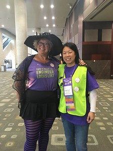 WE17 IIBI Leaders from SD:  Mary Isaac (MS Girls Workshop) and Liz Wong (Registration, Safety & Mgmt)