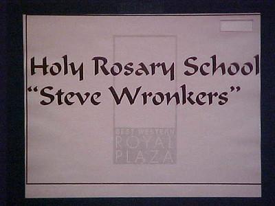 Holy Rosary School Fundraiser... May 13, 2000