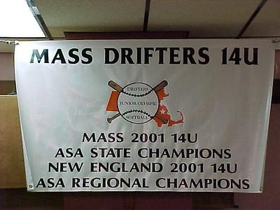 Mass Drifters Jr Olympic Softball Team... April 13, 2002