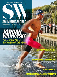 SWIMMING WORLD MAGAZINE COVER NOVEMBER 2015