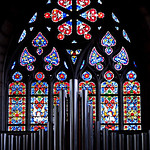 The FraumÌnster church, stained glass windows ,ZURICH