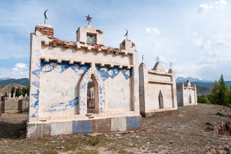 Tombs near Issyk Kul - Kyrgyzstan