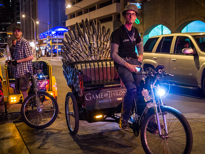One of many Game of Thrones themed pedicabs seen around #SXSW2013