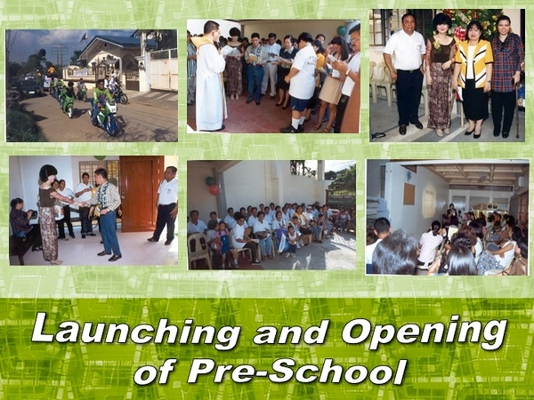 Photos of School Opening on 1999