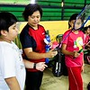 St. Francis  Cainta grade school students came to the Aerodrome badminton center to try their hand in qualifying for the SFAMSC Badminton team. Mrs. Aui Chua, the honorary SFAMSC badminton team coach and parent of CAMPRISA (Cainta Municipality Private Schools Association) badminton champions Sophia Chua (Grade Eight) and Jan Jairus Bobis (SFAMSC alum) helped organise the event and assessed the performance of each and every hopeful athletes.