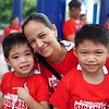 Teacher Jean Rivera with her two students during the Siglakas 2015 Opening Parade!