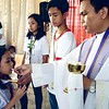 Last December 2, 2016 SFAMSC celebrated its First Friday Mass with Father Michael as our year end thanks to our Heavenly Father you have continuously blessed us with a productive and safe 2016. Photography by SFAMSC Publications Club staff photographer Francesca Gonzales of Grade 8 Aristotle