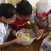 Grade 4 students under the guidance of Teacher Lilian made delicious tuna and chicken sandwiches with  macaroni salad during their Home Economics and Livelihood Education class!