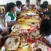 The Grade 5 Students with the guidance of Teacher Lilian made some delicious home cooked meals like Pinoy style pork steak, fried chicken, and sautéed mixed vegetables with quail eggs for their Home Economic livelihood Education Class. Afterwhich everyone enjoyed a delicious and hearty lunch!