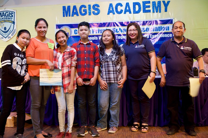 Congratulations to the winners and all the delegates who competed in the Cainta Municipality Private School Association (CAMPRISA) Academic Competition last November 7, 2017. The Junior High School team lead by team leader Janae Ellyxai Mari Ibarra of Grade 10 won 2nd place in the Science Category almost bagging 1st by a very small margin!  Great job guys!<br /> <br /> Here are the names of all the SFAMSC delegates for this year's CAMPRISA Academic Contest:<br /> <br /> SCIENCE<br /> <br /> 	INTERMEDIATE LEVEL:  Eon Keifer Teo C. Laroco– Grade 4<br /> 			      	        Shanessa Antoinette M. Acapuyan– Grade 5<br />                        TEAM LEADER - Ashton Joseph M. Santiago – Grade 6<br /> <br /> 	JUNIOR HIGH SCHOOL LEVEL: Nicole Anne M. Kapunan – Grade 7<br /> 			      	          	          Marc Joseph S. Dolores – Grade 8<br />                                                 	          Julien Mae S. Dolores – Grade 9<br /> 			   TEAM LEADER - Janae Ellyxia Mari Ibarra – Grade 10<br />   <br /> <br /> <br /> MATHEMATICS<br /> <br />      INTERMEDIATE LEVEL:  Tristan Samuel G. Rodejo – Grade 4<br /> 			      	     Christian Conart T. Cobarrubias – Grade 5<br />                    TEAM LEADER - Bernice Danielle T. Canlas – Grade 6<br />          <br />          JUNIOR HIGH SCHOOL LEVEL: Stephen Matthew G. Ibañez – Grade 7<br /> 			      	          	          Eulian Joshua F. del Rosario – Grade 8<br />                                                 	         	Nicole A. Punzalan – Grade 9<br /> 			   TEAM LEADER - Alyanah Marie Marasigan – Grade 10<br /> <br /> <br /> SPELLING<br /> <br />      INTERMEDIATE LEVEL:  Krizella Margaux DV Coligado – Grade 4<br /> 			      	    Marcus Renzo L. Flores – Grade 5<br />                   TEAM LEADER - Godwyn Q. Pastor – Grade 6<br />    <br /> JUNIOR HIGH SCHOOL LEVEL: – Kevin Christian F. Cruz – Grade 7<br /> 			      	          	               Trisha Gail M. Esmeria  – Grade 8<br />                                                 	         	    John Patrick M. Esmeria – Grade 9<br /> 			        TEAM LEADER - Maica Adriana V. Francisco – Grade 10<br /> <br /> <br /> ARALING PANLIPUNAN<br />    INTERMEDIATE LEVEL:  Krystel Joy T. Aluan – Grade 4<br /> 			      	   Russell Andre G. Espaldon – Grade 5<br />                  TEAM LEADER - Amira Dominique S. Yaneza – Grade 6<br />    <br /> JUNIOR HIGH SCHOOL LEVEL: Raichiel Ann B. Santos– Grade 7<br /> 			      	          	             Neil Flloyd B. Ausa – Grade 8<br />                                                 	         	  Yuriel Alonso O. Astillero – Grade 9<br /> 			      TEAM LEADER - Venedict C. Doroteo – Grade 10