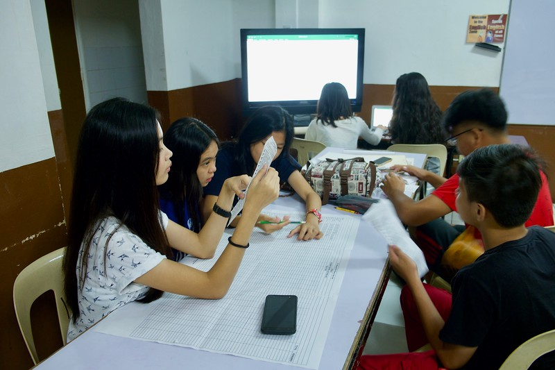 Snapshots of the SFAMSC Student COMELEC counting the votes of this years Student Council Elections.