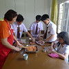 The grade 7 students cooking Baked Cheezy Embotido and Classic Steamed Embotido during their TLE subject under the guidance Teacher Lilian.