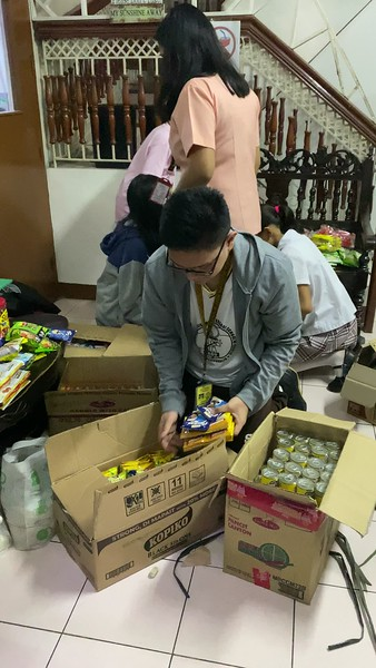 Student Council Organizing the Donations for Taal Victims 2019-2020