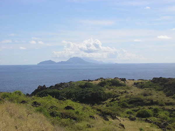 Ocean view with St. Eustatius in the distance