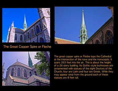 The Copper Spire of Fleshe on the Cathedral Basilica of the Sacrred Heart