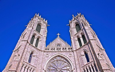 The Towers of the Cathedral of the Sacred Heart in Newark