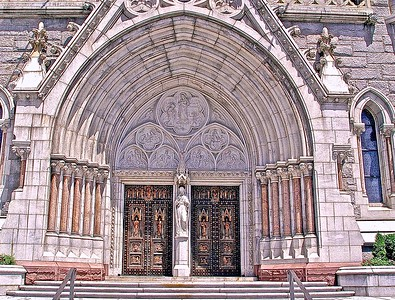 The Main Entrance Doors to the Cathedral Basilica of the Sacred Heart