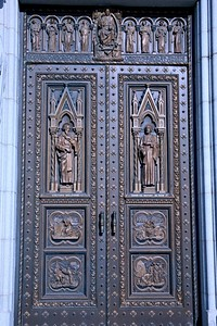 Entrance Doors To THe Cathedral