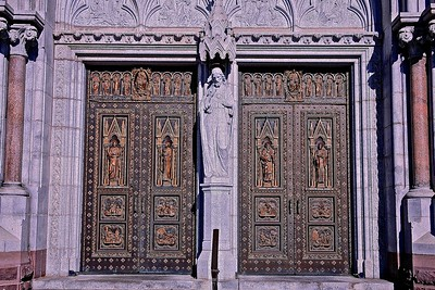 The Doors to Sacred Heart Cathedral in Newark, NJ