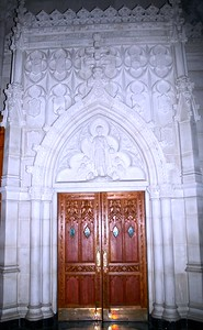 The Doors of the Narthex Western Side Entrance to the Cathedral