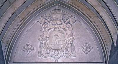Papal Seal Over Western Entrance to the Cathedral Nave