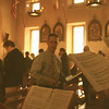 John Vogel, choir director at St. Thomas More, led the schola in singing the California Mission Mass. Several students sang with the schola. Michael Hey, far right, led the schola (which he directs) for the Propers, motets, and two hymns to San Rafael.<br /> Mission San Rafael on the Feast of St. Rafael the Archangel Oct. 24, 2009. Mass offered by Fr. Jean Marie Moreau, Christ the King Sovereign Priest.