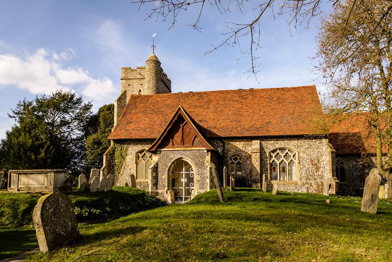 St John The Baptist Church, Church Road, Sutton at Hone, Kent, England