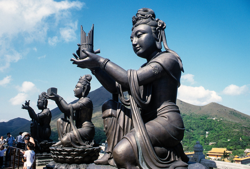 The Offering of the Six Devas, Tian Tan Buddha, Po Lin Monastery, Lantau Island, Hong Kong