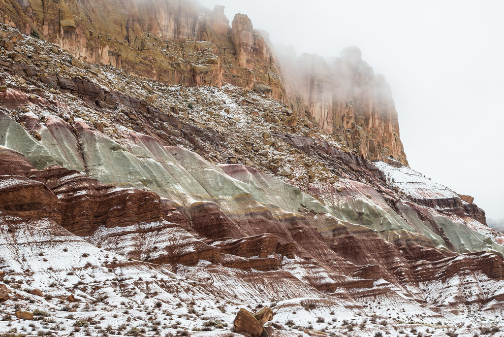 """""""Crystalline Clearing"""": Desert Snow in late April"""