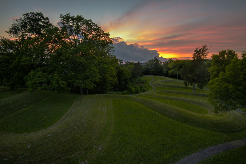 Serpent Mound Sunset