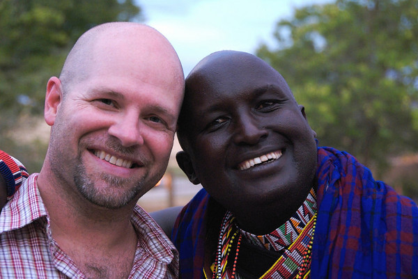 My Husband and a Maasai resident. Noah was visiting from Kenya and I thought this is a great example of contrast.<br /> by Lisa, Imagelover