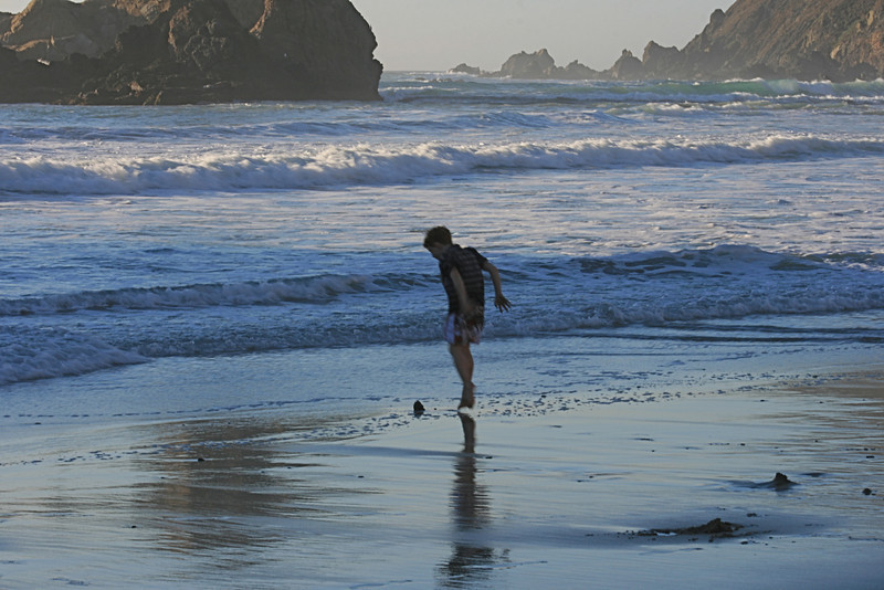 California Beach<br /> By Linda Rood<br /> <br /> Note: Joy - A California beach in December! Pfeiffer Beach, Big Sur