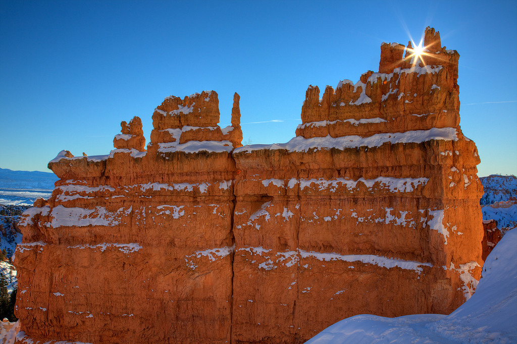Joy of a New Year<br /> By Bill Gerrard<br /> <br /> Note: The joy of a new year, with new adventures is upon us.  Photographed<br /> at sunrise, January 2, 2009, Bryce Canyon National Park