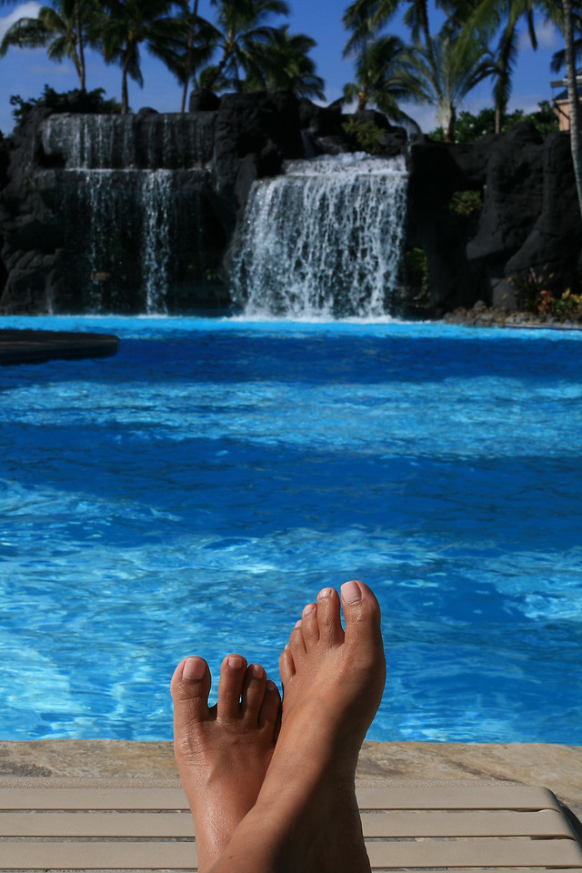 Carefree<br /> By Dina Damon<br /> <br /> Location: Hilton Waikaloa Resort, Big Island, HI<br /> Model: My own feet. LOL