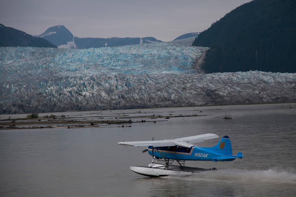 Alaska<br /> By Jack Nowosinski<br /> A glacier and bush plane taken at Tacu Lodge