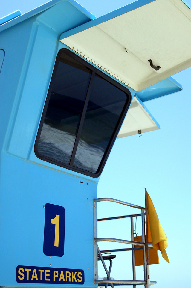 Blue<br /> By Cathy Sujishi<br /> <br /> Note: Lifeguard stations at San Clemente State Beach