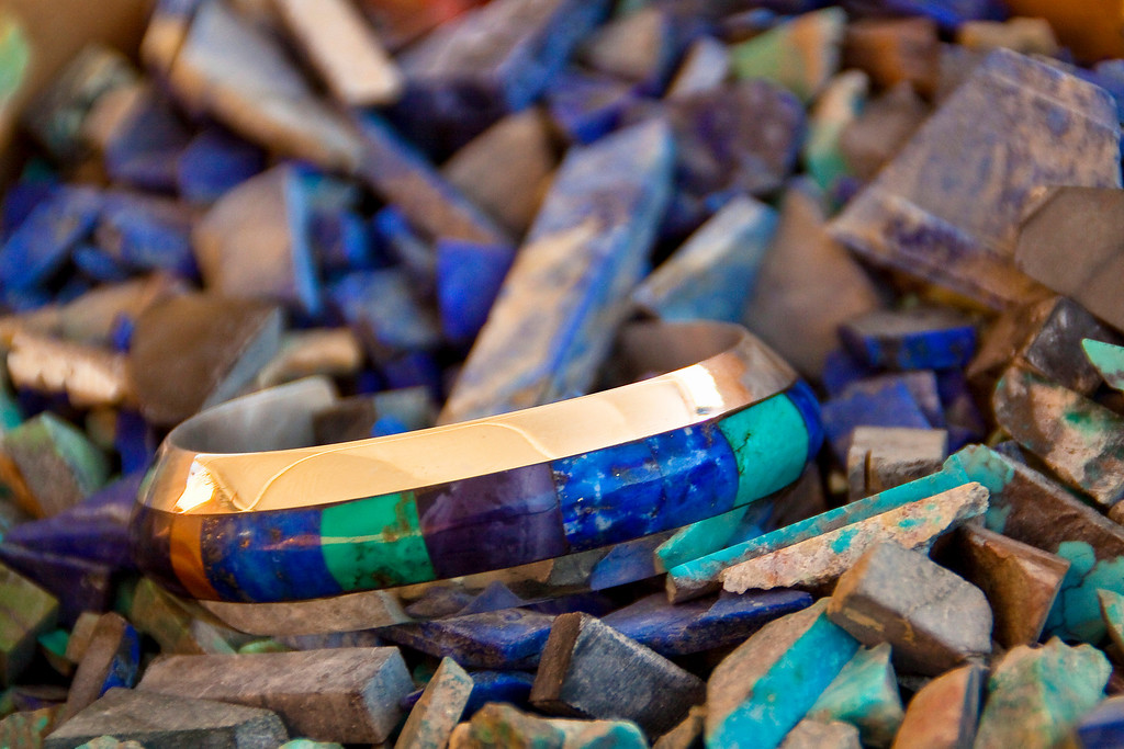 Lapis and Turquoise<br /> By Claudia Tammen<br /> <br /> Note: It is an image I made in the Silversmithing class held at the same time as my class at Ghost Ranch. I thought of the Blue theme when I saw the beautiful stones used and jewelry created in this class.
