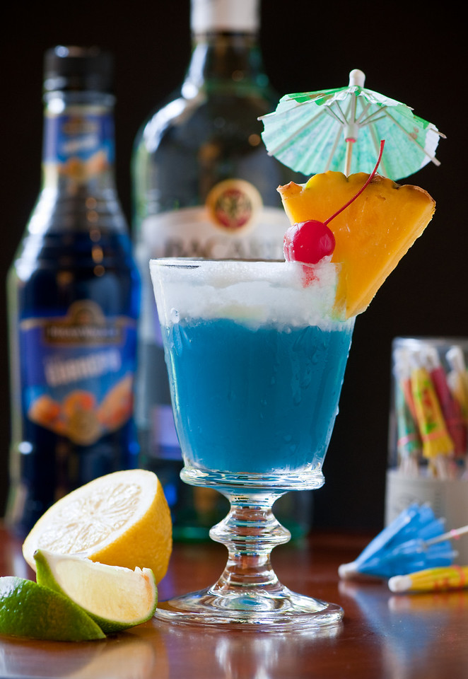 Blue Hawaiian Cocktail<br /> By Thomas Bui<br /> <br /> Note: Natural light from kitchen window on the left hand side .