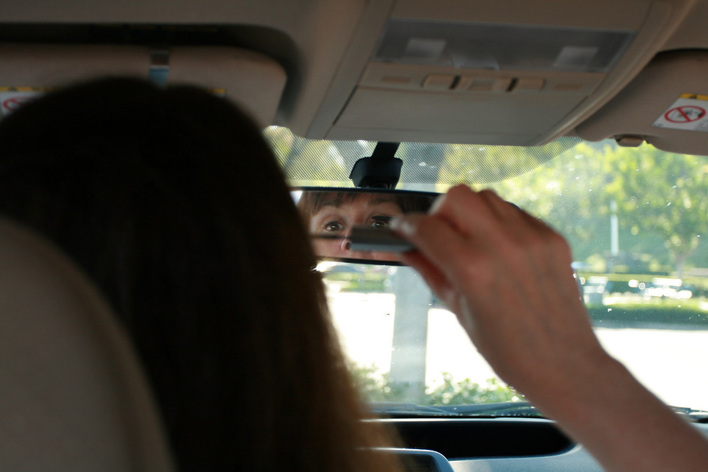 Putting on Mascara while Driving<br /> By Dina Damon
