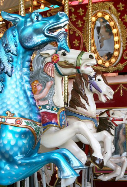 Reflections of Childhood<br /> By Laurie Hill<br /> <br /> Photo of the Carousel at the California Strawberry Festival.