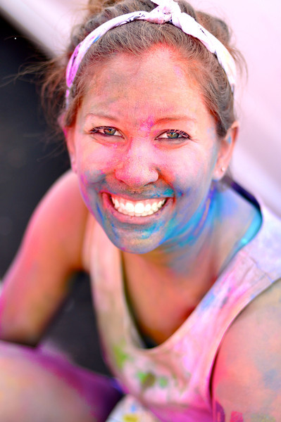 "Color Me Rad<br /> By Sara Cross<br /> <br /> Photographer's notes:<br /> My best friend and I just did the ""Color Me Rad,"" a color run in San Diego where they throw powdered color at you, and we had a blast! Just had to submit my favorite image."