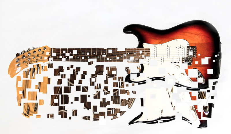 Guitar in Pieces<br /> By Vivian Frerichs