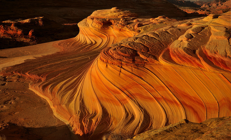 The Fishtail Waves<br /> By Daniel Pham<br /> <br /> Location: Coyote Buttes Utah