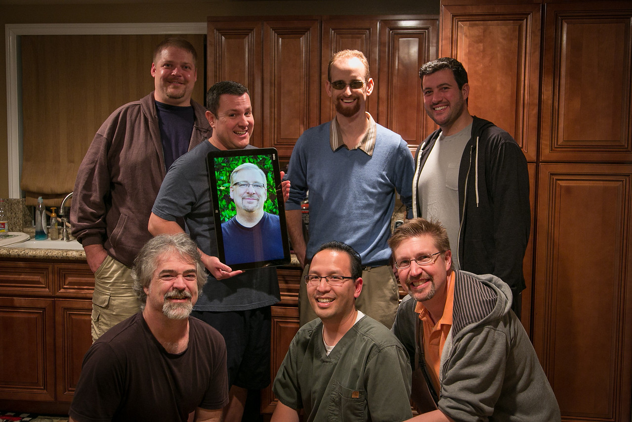 """The """"Men For Peace"""" small group: Jeff, Victor, Eric, Michael, Scott, Vu, Todd"""