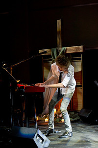 Colton Dixon, a contestant from American Idol, leads worship for Fuel on Sunday night at the Refinery. After the service, he performs a concert .