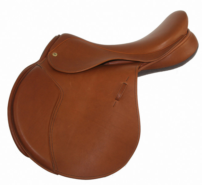 Waterford Jump Saddle by Black Country, shown in Newmarket
