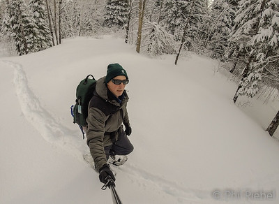 Snowshoeing on my forest land