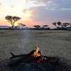 Campfire scene - OAT Safari Tented Camp - Serengeti
